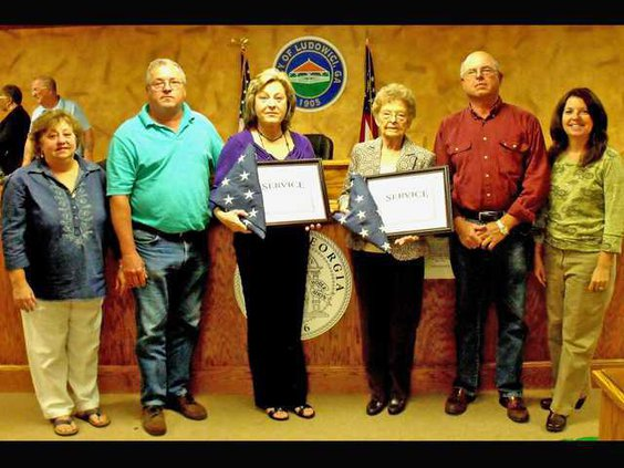 Flags and Certificates Presented in Ludowici