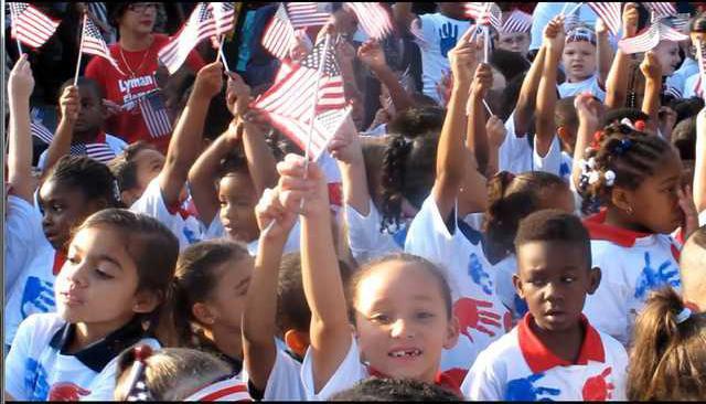 Freedom Walk 1st grader