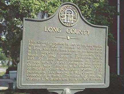 Long County historic marker