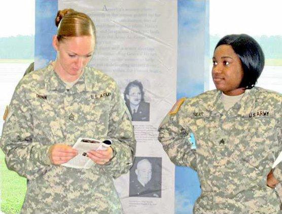SSG Samantha Dunn  Sgt. Alicia Silar