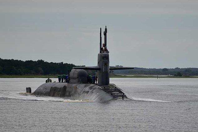 USS Georgia returning to Kings Bay1A