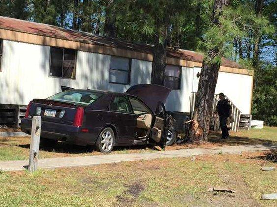 Car into tree 1