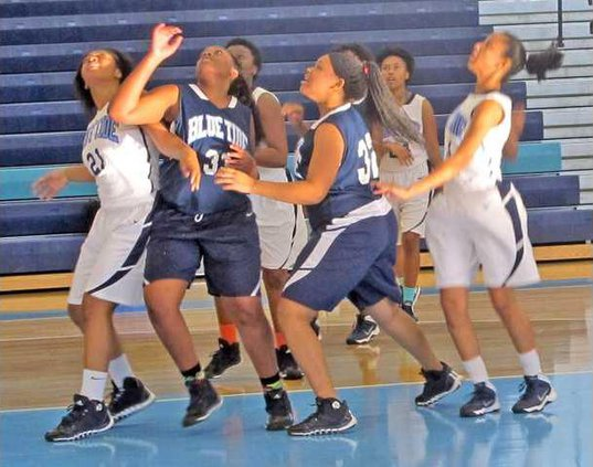 Lady Blue Tide in Blue vs White game