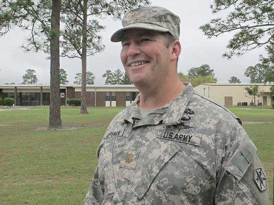 Maj. Kyle Upshaw D Co. Cdr 82nd Civil Affairs Bn.