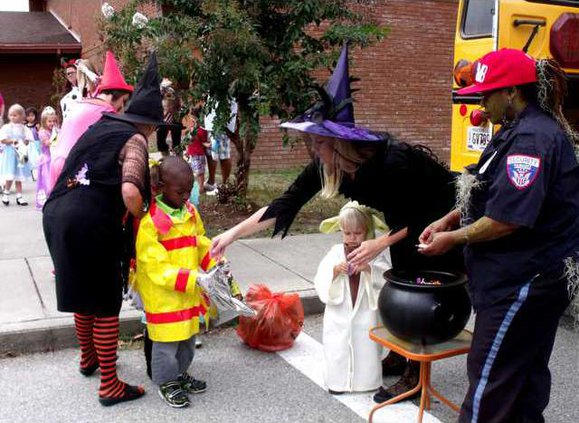 Pic 4 Plenty of candy given out at Long Co Trunk or Treat