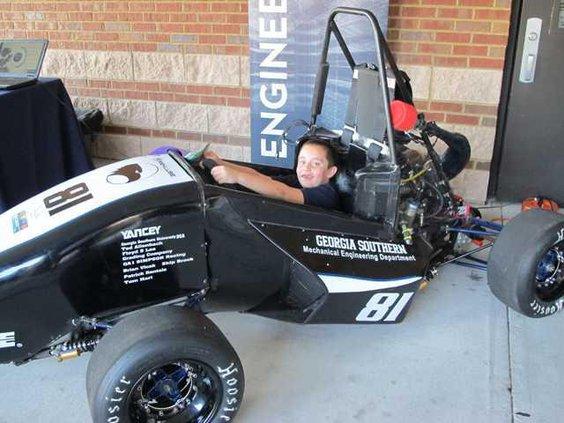 Robert Clark 7 with GA Southern Mech. Eng. Dept. race car
