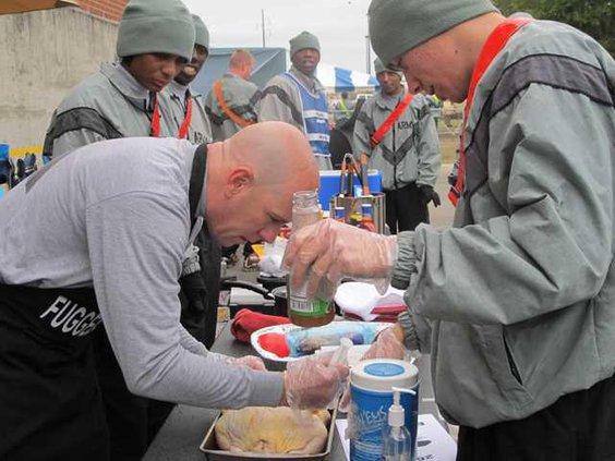 Sgt. Raleigh Hickman and Pfc Adam Jones