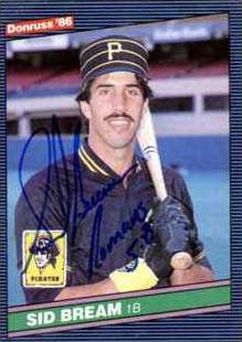 sid bream autograph