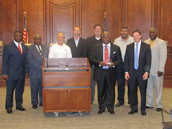 Excellence in Economic Development bronze award water quality control project at Bryant Commons