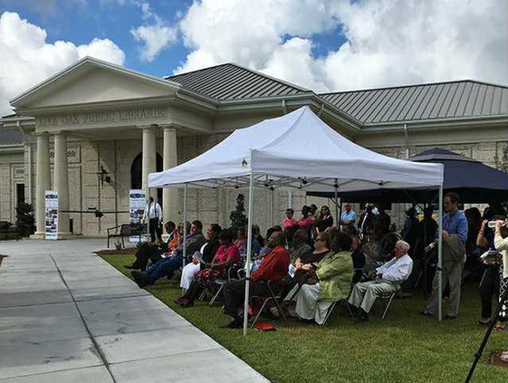 Liberty Library at ribbon cutting