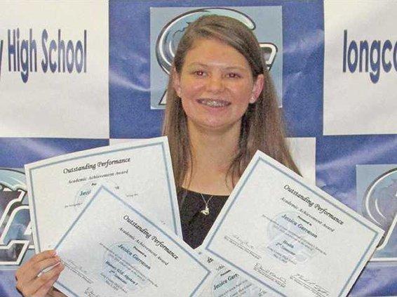 Pic 1 Jessica Garrason 4.0 GPA Award