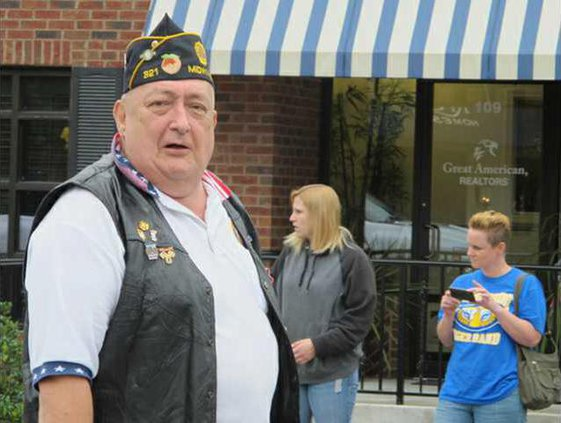 Fitzgerald during 2012 Veterans Day Parade