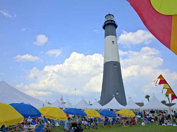 Tybee Wine Festival lighthouse photo