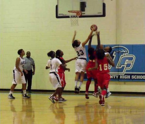 23 D. Crawford led Lady Tide with 11 points