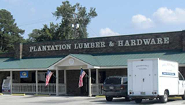 plantation lumber and hardware