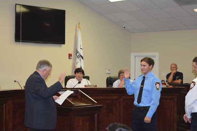 City Council - New firefighter sworn in