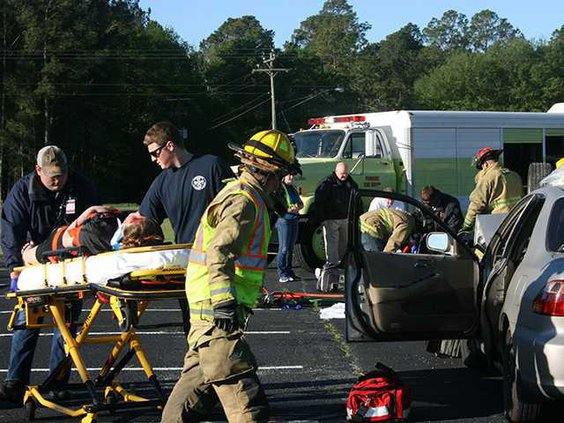 SADD car crash stretcher