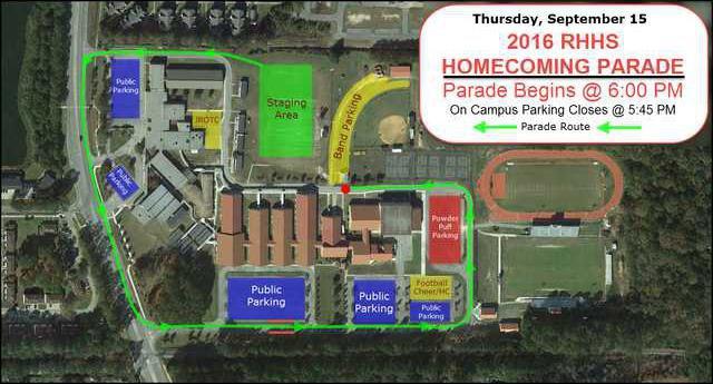 RHHS homecoming parade