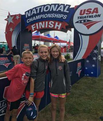 Coastal Kids Triathlon places three at nationals - Bryan