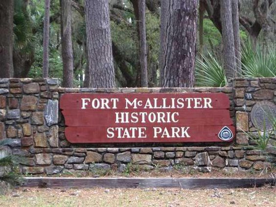 Fort McAllister sign