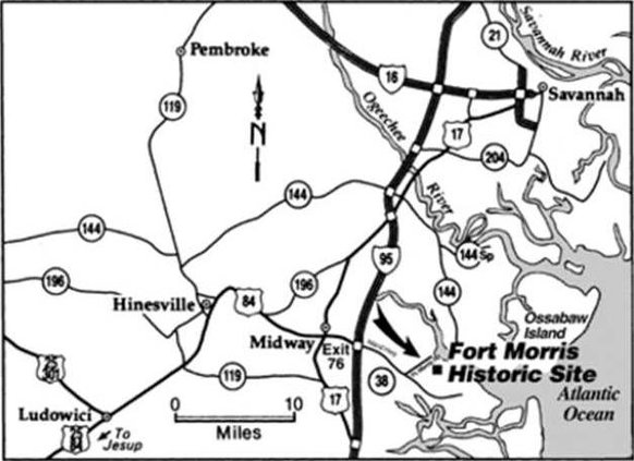fort morris map to