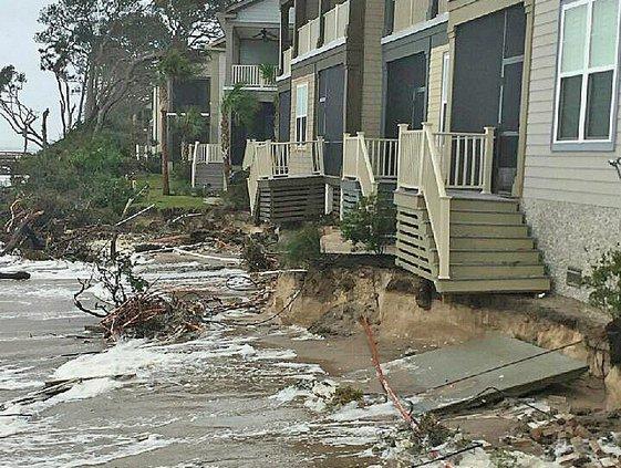 beach erosion after hurricane