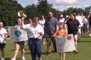 Protesters Marching in Statesboro 2018-07-02