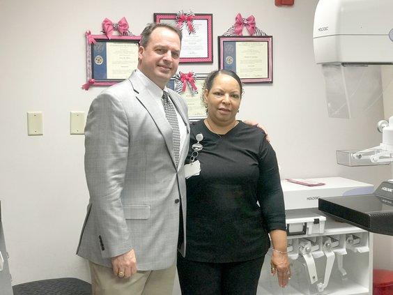 AG Radiologist James Mclellan and lead mammo tech Anita White