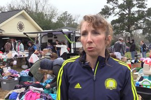 Sara Maltby Hold Yard Sale to Pay for School Lunches
