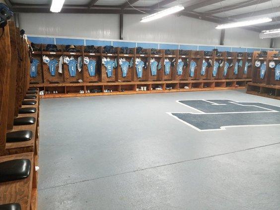 Blue Tide locker room