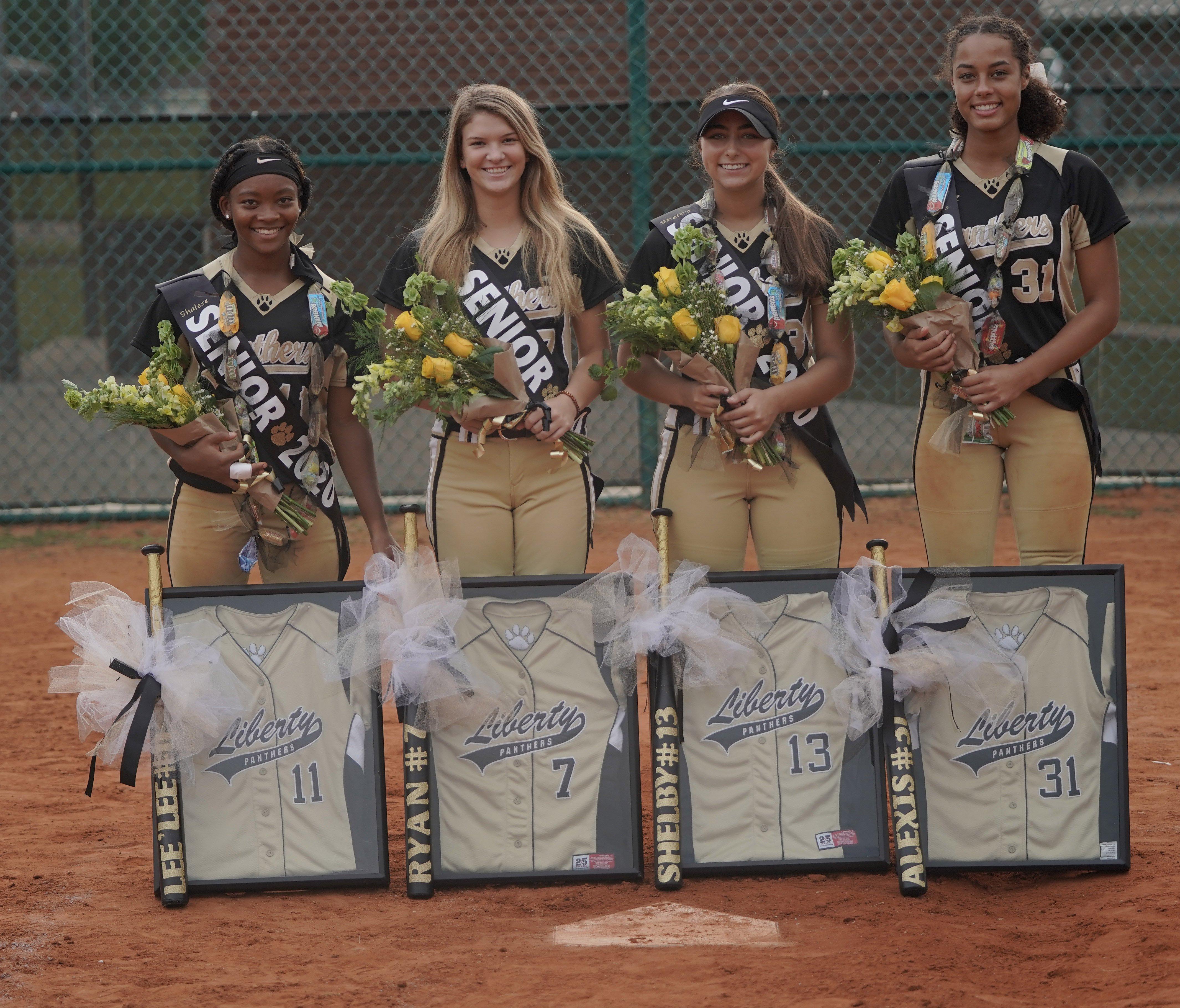 Lady Panther seniors softball