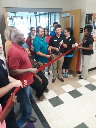 YMCA ribbon cutting
