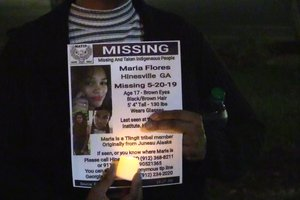 Maria Flores candlelight vigil