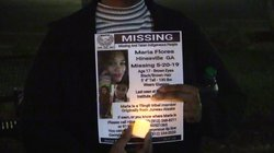 Maria Flores candlelight vigil