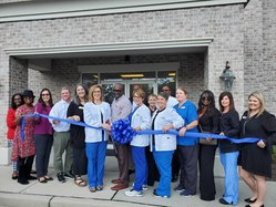 Hospice ribbon cutting